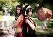 Katara and toph by tophwei-d4a3s3b