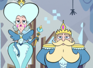 Queen and king butterfly