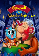 Gumball the Woodpile Blue-Cat Poster