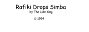 The Lion King's Rafiki Drops Simba Logo