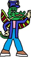 It's Lachy Dragon (winter suit)