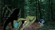Baron Vain and Rat watch Rapido in The Woods