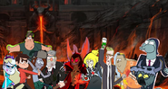 MLPCV - Star, Marco, Grunkle Stan, Soos and Wendy vs. Lord Wander, The Spy from Apartment, Masterson, Flowershirt, Ludo and Toffee