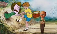 Sam Sparks and Christopher Robin Help Peppermint Patty Get Out of the Hole by Seansiq