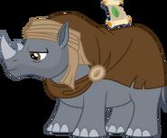 My little pony wanderer rhino fanart vector by irsano-dchupkn