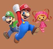 Mario, Luigi and Milli by CartoonAllStarsRockz
