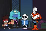 Ko and Rad meets Sans and Papyrus