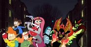 Ansi, Agent Xero, Olly Saraline and Mole vs. Lord Hater and Lord Dominator