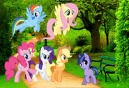 MLPCVTFQ - Applejack Pinkie Pie Fluttershy Rarity and Rainbow Dash says for Twilight Jr And if we might say so too.