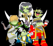 The Gangreen Gang as Robo Pirates
