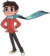 Marco wearing his cape