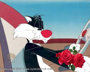 Sylvester with The Rose by ChannelFiveRockz