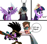 My Little Pony Crossover Villains - Battle On the Library Room