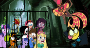 MLPCVFTQ - Twilight Wander Sylvia Grim Reaper Ansi Agent Xero Star Marco and Twilight Jr Meets Master Frown and Sir Pentious in Kingdom