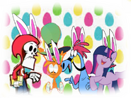 MLPCV - From Teenager Twilight, Wander, Sylvia and Grim Reaper in Easter Eggs