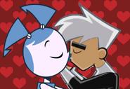 Jenny and Danny Kiss