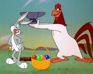 Bugs Bunny and Foghorn Leghorn with Basketfull of Easter Eggs by ChannelFiveRockz