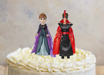 Anna and Jafar on the Cake by Davidchannel