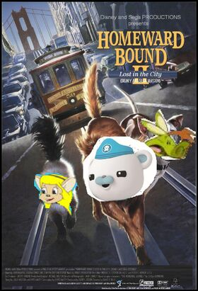 Homeward Bound 2 Lost in the City (Disney and Sega Version) Poster