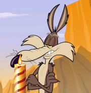 Wile E. Coyote with a Candle by ChannelFiveRockz