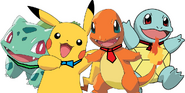 Pikachu, Squirtle, Bulbasaur, and Charmander as Baby Globoxes