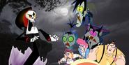 MLPCV - Grim Reaper Scares Vlad, Nicolai and Mitch