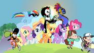 MLPCV - Twilight, Wander, Sylvia, Grim Reaper, Applejack, Pinkie Pie, Rainbow Dash, Fluttershy, Rarity, Dipper and Mabel is Best Friends