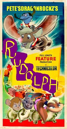 Rudolph (Dumbo) Poster