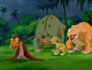 Cera, Spike, Ducky, and Petrie Laugh in The Land Before Time XI