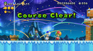 Luigi, Yellow Toad, and Blue Toad Flying in the Sky in New Super Luigi U