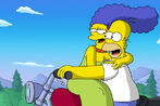 Homer Simpson and Marge Simpson