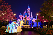 MLPCV - Applejack Rainbow Dash and Rarity in Disneyland End Credits