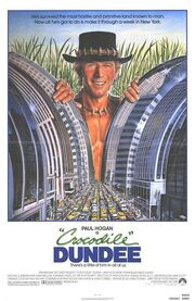 1986 - Crocodile Dundee Movie Poster