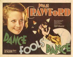 1931 - Dance Fools Dance Movie Poster