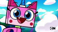Unikitty smiling