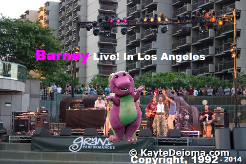 Barney Backyard Gang Concert barney and the backyard gang live! in concert (1992, supermalechi's