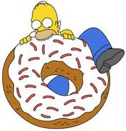 Homer eating a donut