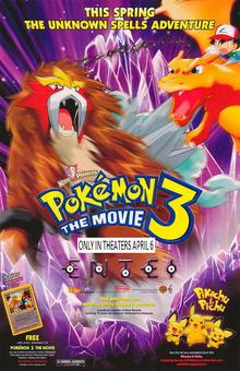 Pokemon 3 The Movie (2001) Poster