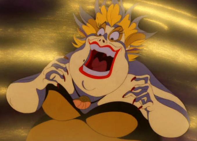 Image result for disney ursula laugh