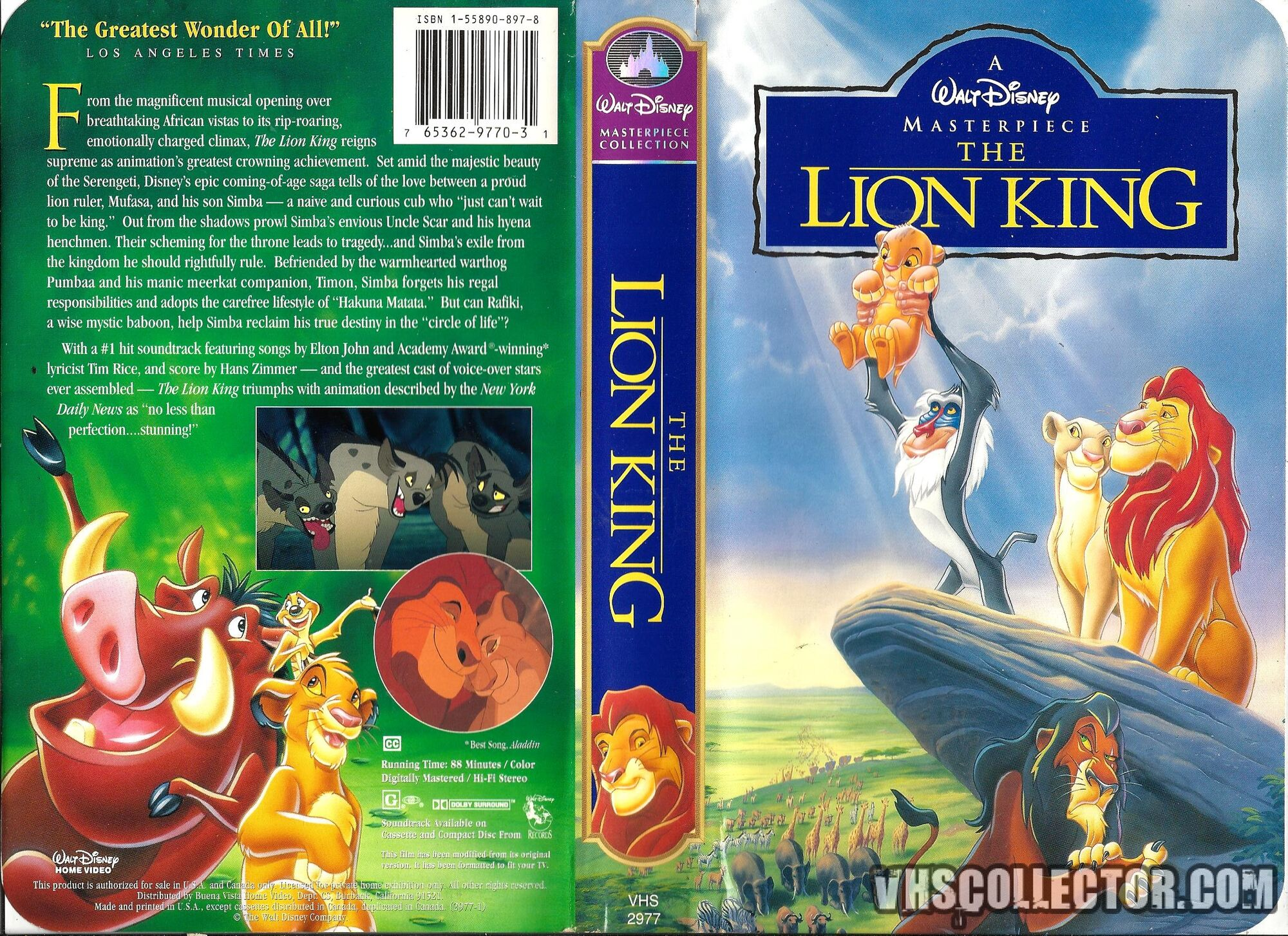 opening to the lion king 1995 vhs  from walt disney home