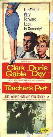 1958 - Teacher's Pet Movie Poster