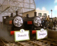 DonaldandDouglaswithnameboards