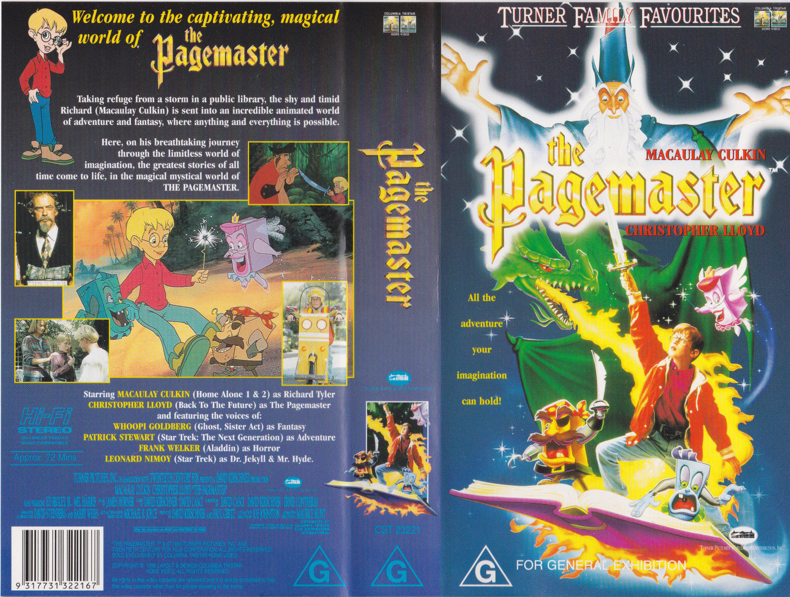 opening to the pagemaster 1995 australian vhs (turner home