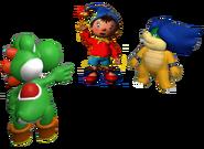 Yoshi, Noddy and Ludwig