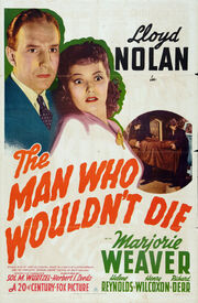 1942 - The Man Who Wouldn't Die Movie Poster