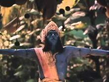 The Blue Man At Teaser Trailer Of A Little Princess (1995)