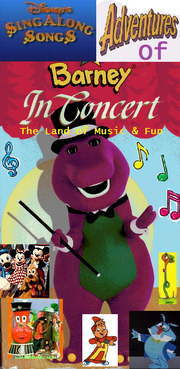 Disney's Sing Along Songs' Adventures of Barney In Concert The Land of Music & Fun