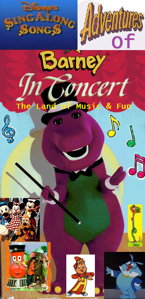 disneys sing along songs adventures of barney in concert