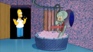 Homer Simpson Stops By And Squidward Screams