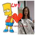 Bart Simpson and Emma Goodall.jpg